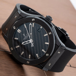 Hublot Classic Fusion 511.CM.1670.RX 45MM Black Dial With Leather Bracelet