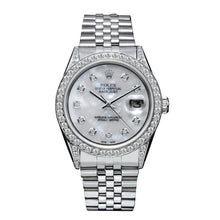 Load image into Gallery viewer, Rolex DateJust 179174 36mm Silver Mother of Pearl with 2.5CT Diamond Bezel and Lugs