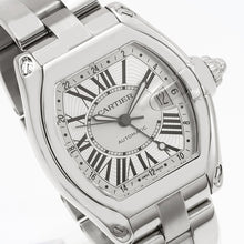 Load image into Gallery viewer, Cartier Roadster W62032X6 43mm Silver Dial With Roman Numerals