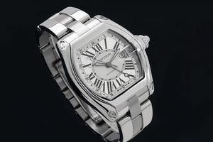 Cartier Roadster W62032X6 43mm Silver Dial With Roman Numerals