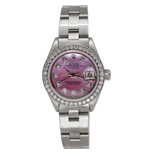 Rolex Datejust 67193 26mm Pink Mother Of Pearl Dial With 1.3CT Diamonds