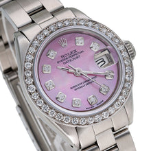 Load image into Gallery viewer, Rolex Datejust 67193 26mm Pink Mother Of Pearl Dial With 1.3CT Diamonds