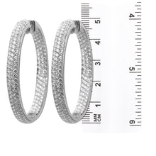 Load image into Gallery viewer, 18K White Gold Ladies Earrings With Round Shaped Diamonds