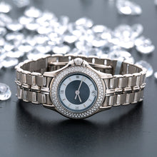 Load image into Gallery viewer, 18K White Gold Mauboussin Lady's Round NO140 26mm white and Blue Dial with Diamond Bezel
