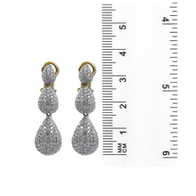 Load image into Gallery viewer, 14K Yellow Gold Ladies Earrings With Round Shaped Diamonds