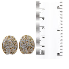 Load image into Gallery viewer, 18K Rose Gold Ladies Earrings With White and Yellow Diamonds