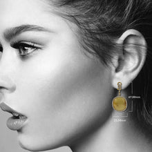 Load image into Gallery viewer, 18K Yellow Gold Ladies Earrings With Round Shaped  Diamonds