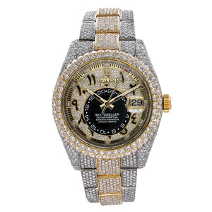 Rolex Sky-Dweller 326933 42mm Arabic Numerals Diamond Dial With 25.75 CT Diamonds