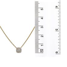 Load image into Gallery viewer, 18K Yellow Gold Small Square Women's Necklace With 0.27 CT Diamonds