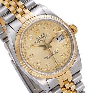 Rolex Datejust 16013 36mm Champagne Dial Two Tone Bracelet