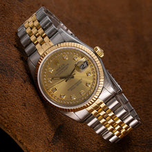 Load image into Gallery viewer, Rolex Datejust 16013 36mm Champagne Dial Two Tone Bracelet