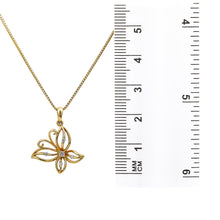 Load image into Gallery viewer, 18K Yellow Gold Butterfly Women's Pendant With 0.09 CT Diamonds