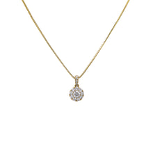 Load image into Gallery viewer, Gold Disk Pendant With Diamonds available in White & Yellow Gold