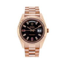 Load image into Gallery viewer, Rolex Day-Date II 218235 41MM Black Dial President Rose Gold