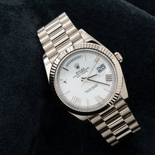 Load image into Gallery viewer, Rolex Day-Date 228239 40MM White Dial With President White Gold Bracelet