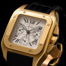 Load image into Gallery viewer, Cartier Santos 100 W20096Y1 38MM White Dial With Leather Bracelet