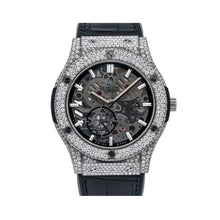 Load image into Gallery viewer, Hublot Classic Fusion Ultra-Thin 545.NX.0170.LR 45MM Black Dial With 9 Carat Diamonds Leather Bracelet