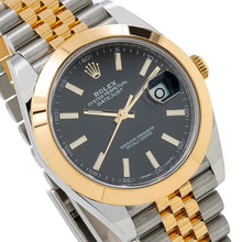Load image into Gallery viewer, Rolex Datejust II 126303 41MM Black Stick Dial With 18K Two Tone Bracelet