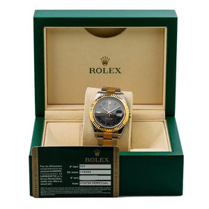 Rolex Datejust II 116333 41MM Silver Dial With 18K Two Tone Bracelet