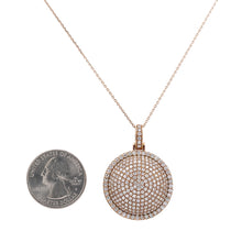 Load image into Gallery viewer, 14K Rose Gold Circle Pendant with 3.71 CT Diamonds