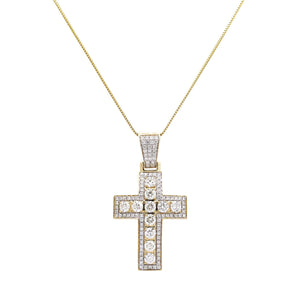 14k Yellow Gold Pendant with 3.9 Ct Diamonds