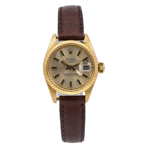 Rolex Datejust 6900 26MM Champagne Dial With Leather Bracelet