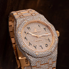 Load image into Gallery viewer, Audemars Piguet Royal Oak Self Winding 15400OR 41MM Champagne Diamond Dial With 27.95 CT Diamonds