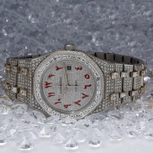 Audemars Piguet Royal Oak Self Winding 15400ST 41MM White Diamond Dial With 29.75 CT Diamonds