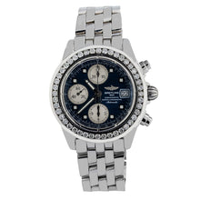 Load image into Gallery viewer, Breitling Chronomat Evolution A13356 45MM Black Dial With 2 CT Diamonds