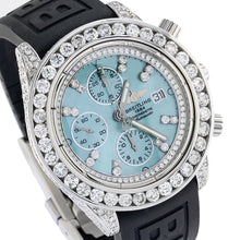 Load image into Gallery viewer, Breitling Chronomat Evolution A13356 42MM Blue MOP Dial With 10.00 CT Diamonds