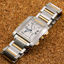 Load image into Gallery viewer, Cartier Tank Française W51004Q4 28MM White Dial With Stainless Steel and Yellow Gold Bracelet