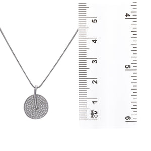 14K White Gold Hand Fan Women's Pendant with 0.56CT Diamonds