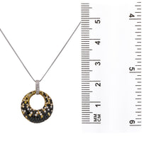 Load image into Gallery viewer, 18K Yellow & White Gold Eclipse Women's Pendant with 2.96CT Diamonds