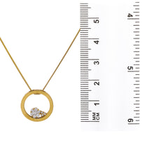 Load image into Gallery viewer, Floating Circle Women's Pendant with 0.35CT Diamonds available in White & Yellow Gold