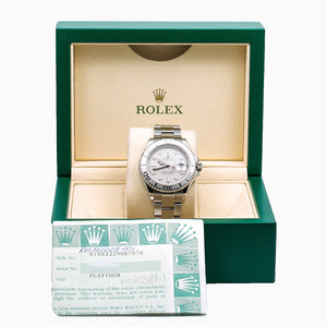 Rolex Yacht-Master 16622 40MM Silver Dial With Stainless Steel Bracelet