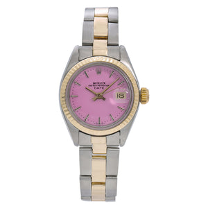 Rolex Lady-Datejust 6917 26MM Pink Dial With Two Tone Oyster Bracelet