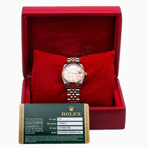 Rolex Datejust 178271 31MM Pink Flower Dial With Two Tone Bracelet