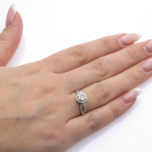 Load image into Gallery viewer, Ladies 14k White Gold With 0.49CT Right Hand Ring