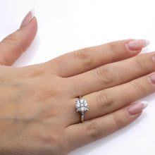 Load image into Gallery viewer, Ladies 14k White Gold With 1.22 CT Right Hand Ring
