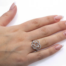 Load image into Gallery viewer, Ladies 18k White Gold With 0.90 CT Right Hand Ring