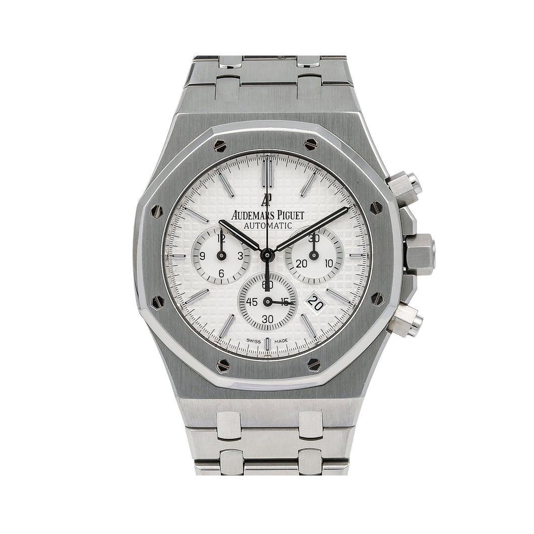 Audemars Piguet Royal Oak Chronograph 26320ST 41MM White Dial With Stainless Steel Bracelet