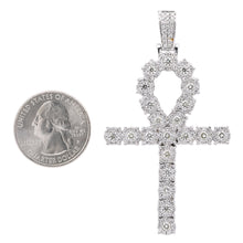 Load image into Gallery viewer, Unisex 14K White Gold Pendant with 4.05 CT Diamonds