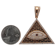 Load image into Gallery viewer, Unisex 14K Yellow Gold Eye of Providence Pendant with 1.92 CT Diamonds