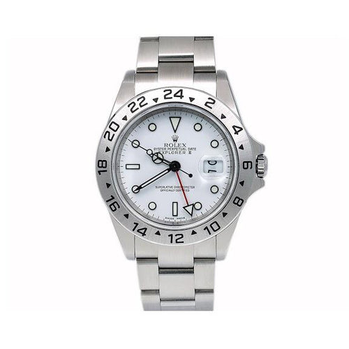 Rolex Explorer II 16570 40MM White Dial With Stainless Steel Oyster Bracelet
