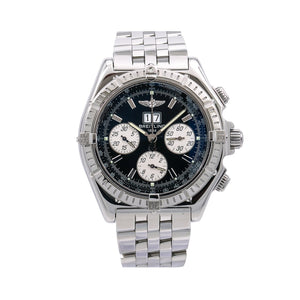 Breitling Crosswind Special A44355 44MM Blue Dial With Stainless Steel Bracelet