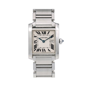 Cartier Tank Française W51011Q3 25 x 31 mm White Dial With Stainless Steel Bracelet