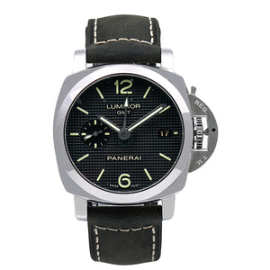 Panerai Luminor 1950 3 Days GMT Automatic PAM00535 42MM Black Dial With Leather Bracelet
