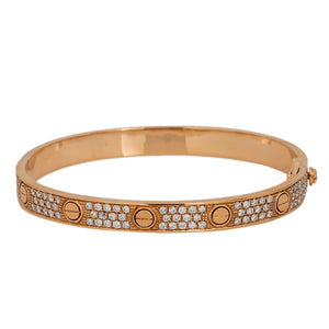 18K ROSE GOLD WOMEN'S BRACELET WITH 2.65 CT DIAMONDS