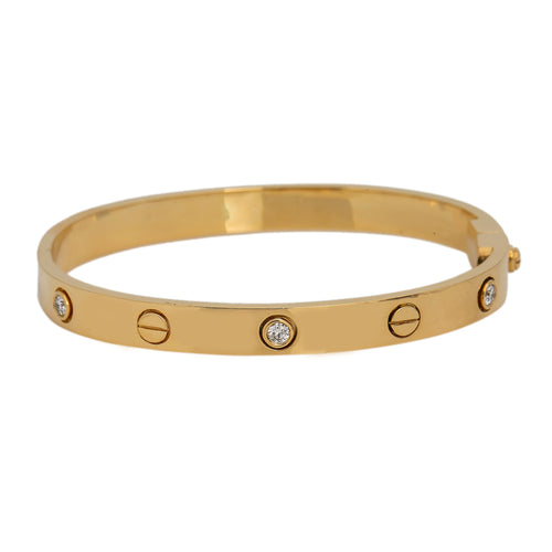 18K YELLOW GOLD WOMEN'S BRACELET WITH 0.5 CT DIAMONDS