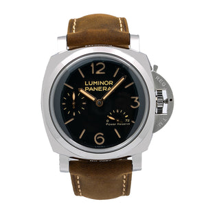 Panerai Luminor 1950 3 Days Power Reserve PAM00423 47MM Black Dial With Leather Bracelet